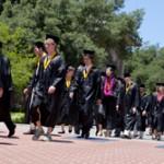 Grads walk