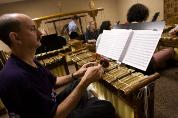 Bill Alves plays Gamelan