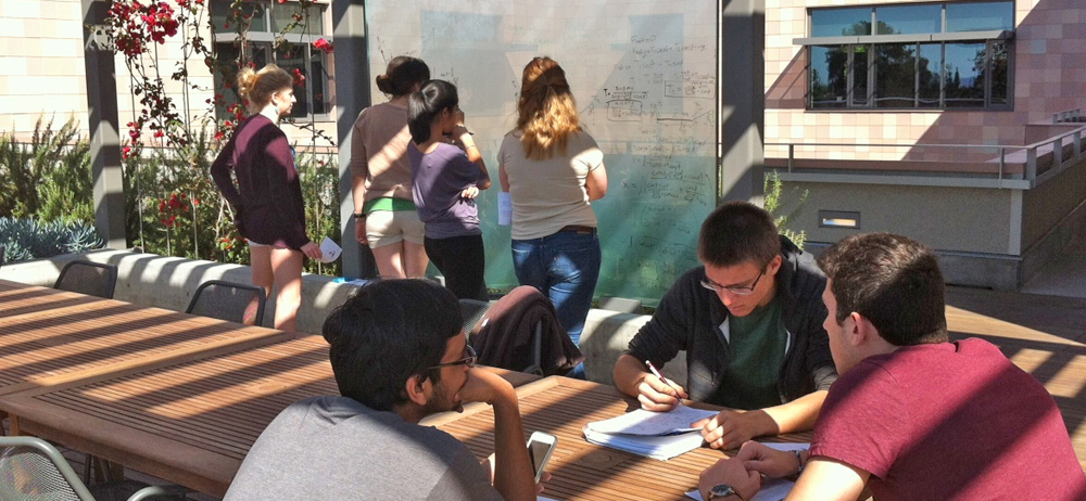 Students collaborating at Harvey Mudd College