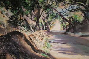 "Cobal Canyon Shadows; watercolor on Arches Art Board; 20""x30""; 2014; $15,000"