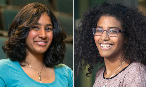 Priya Donti '15 and Sophia Williams '15