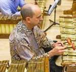 Alves performs with the HMC American Gamelan