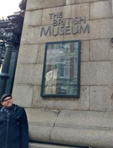 Andrew Marino at British Museum, HMC study abroad