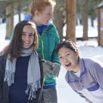 Three Sophomore Retreat students.