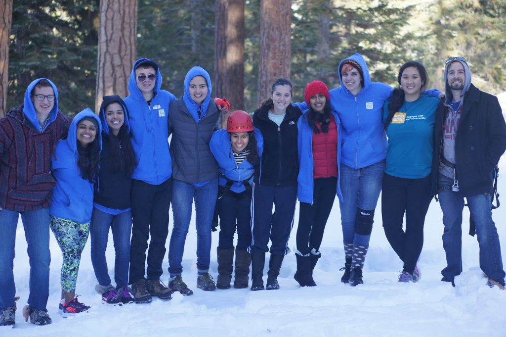 Sophomore Retreat participants group.