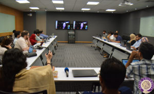 Teleconference at Habib University with Harvey Mudd faculty member Rachel Levy