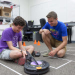Robot Brunch team members Sam Dietrich '17 and Kyle Lund '17