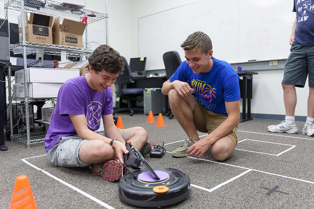 Robot Brunch team members Sam Dietrich '17 and Kyle Lund '17