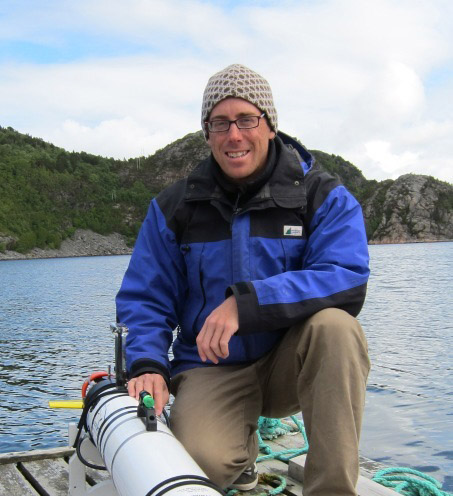 Chris Clark with AUV