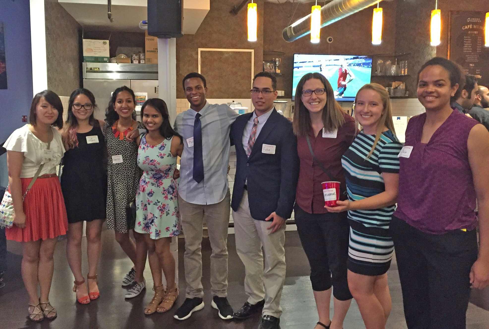 Harvey Mudd students and alumna at Techsparks event