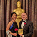 Melissa Aczon '93 and Academy awardee Cliff Stein '92