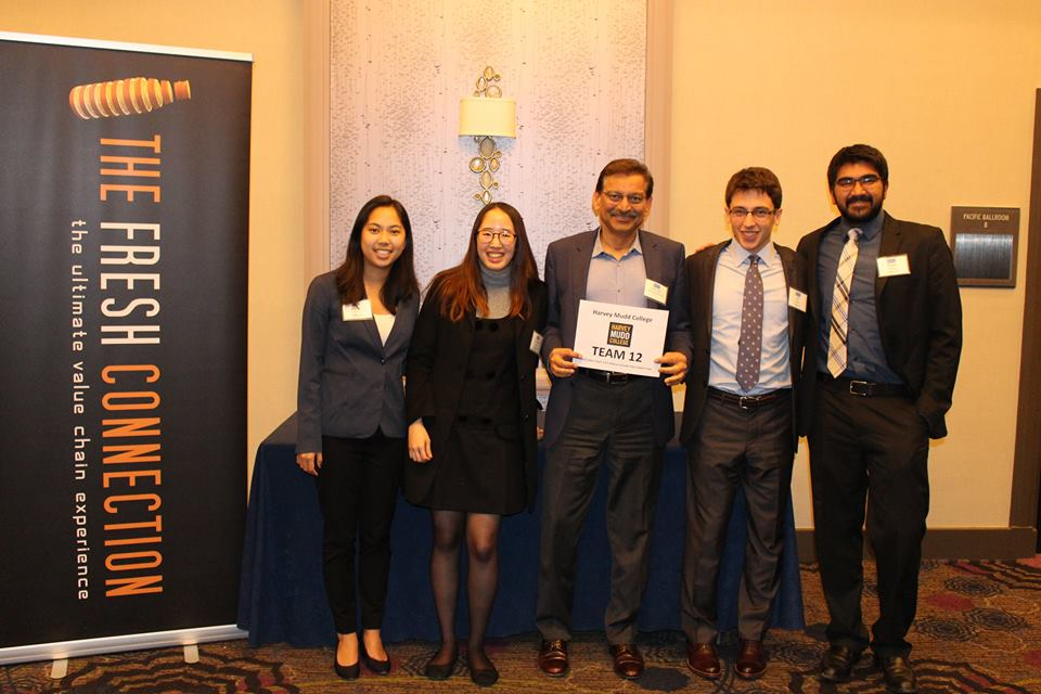 Winning Harvey Mudd team, APICS West Coast student case competition