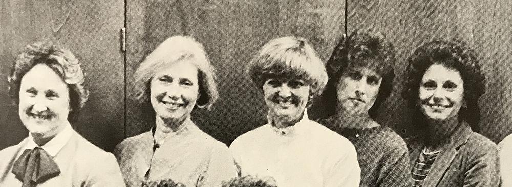 Harvey Mudd development staff, 1984