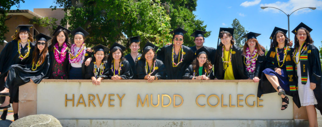 graduates by harvey mudd sign