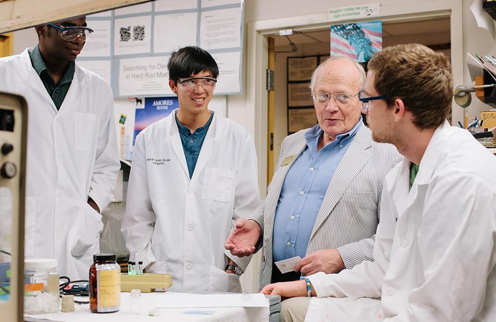 Professor Jerry Van Hecke and students