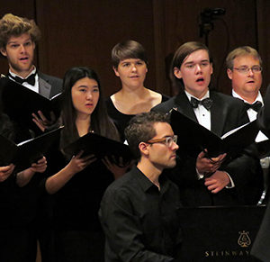 Marissa Gee '18 with Claremont Colleges Concert Choir