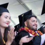graduates at ceremony