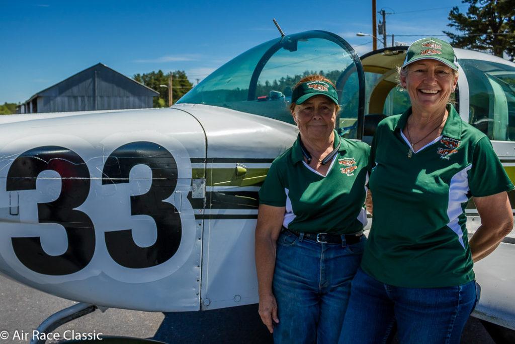 The Flying Tigresses, Harvey Mudd alumnae Barbara Filkins '75 and Nancy Smith '76
