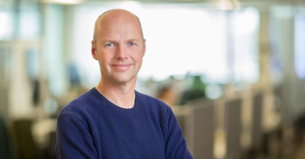 Portrait of entrepreneur Sebastian Thrun, Harvey Mudd College commencement speaker