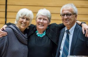 Tory Mudd, Maria Klawe and Constantinos Christofides