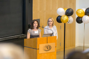 Professor Lelia Hawkins and Elise Pennington '17 at campaign celebration