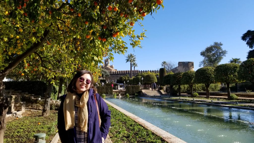 Student by river in Spain