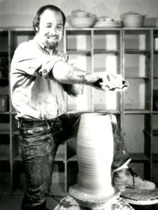 Ken Stevens creates pottery