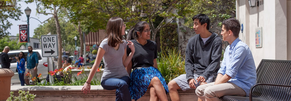 Students hangout in Claremont Village