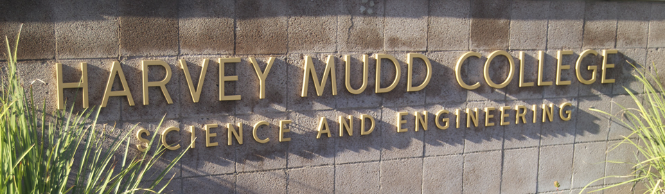 Harvey Mudd College sign on wall