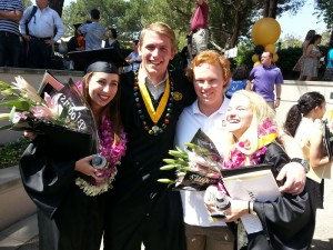 Sophie, Christian, myself, and Robyn at graduation.