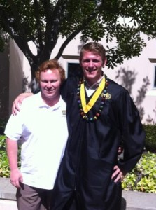 Christian and I at graduation.