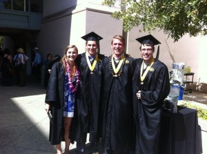 Courtney, Ray, Christian, and Brian at graduation.