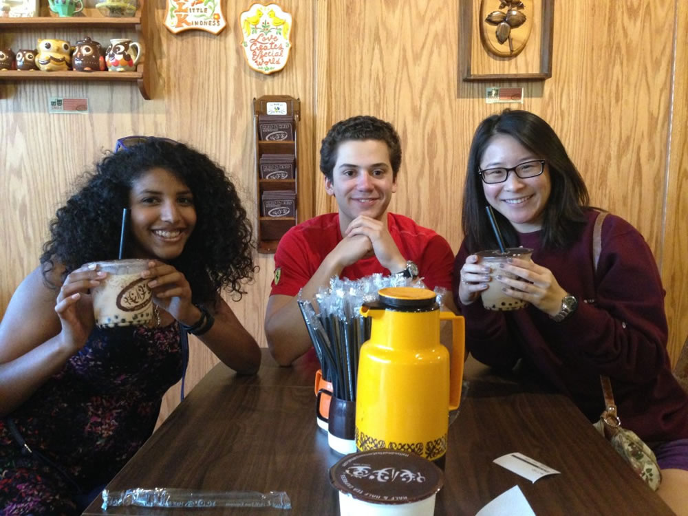 Sophia, Philip, and Michelle enjoying their Half & Half Boba teas! If you're in SoCal, these are a must-have. No excuses.