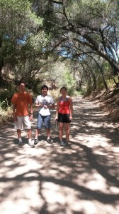 Tyler, Henry and Lin on the Claremont Wilderness Loop