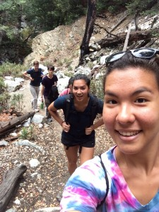 Hikin the trail selfie