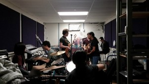 A rare look at a One Night Only jam sesh down in Jam Soc. I'm blocking our lead guitarist from the camera. Typical.
