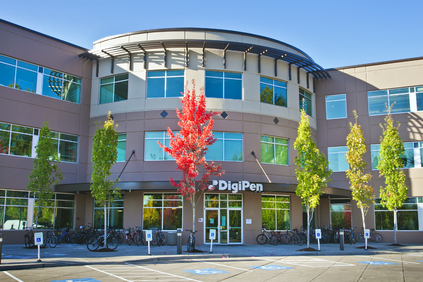 The front of the main DigiPen building