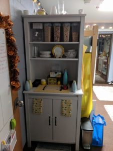 Sienna Guerrero's pantry and food prep area.