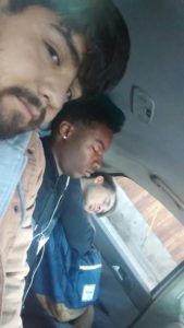 Art's selfie with some backseat nappers