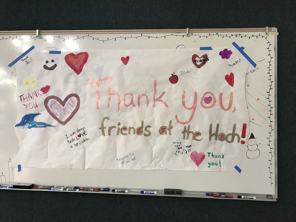 Thank you poster for the Hoch