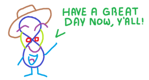 Joaquin's little doodle letting everyone know that they should have a great day!