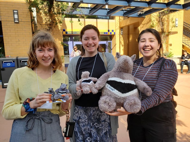 Three of us holding our stuffed anteaters