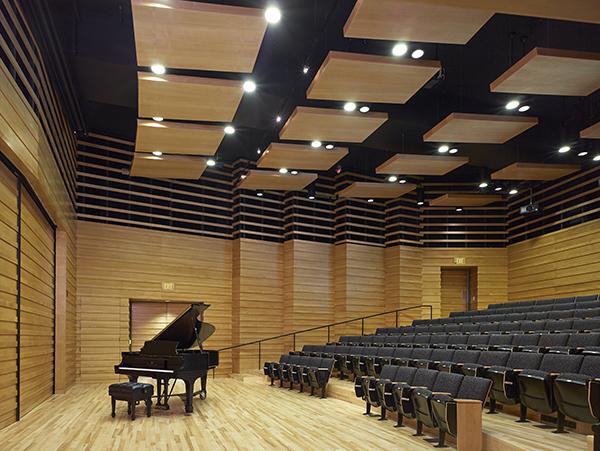 Piano in Drinkward Recital Hall, Harvey Mudd College