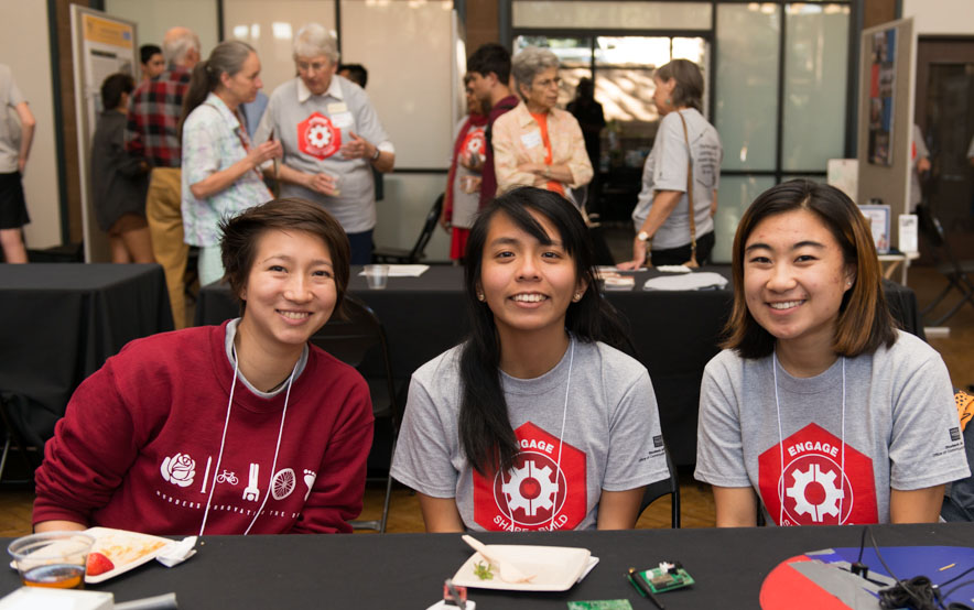 Three Harvey Mudd students participate in Voices of Engagement event in 2017