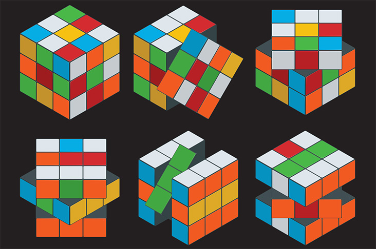 Images of Rubik's Cube-like blocks