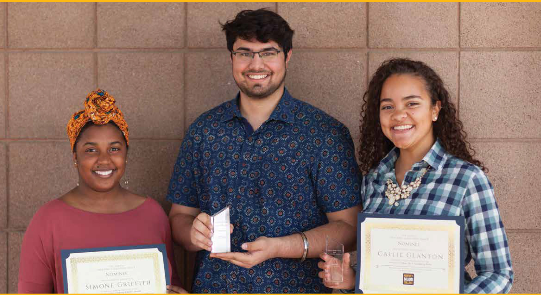 Harvey Mudd Leadership Award recipients 2018