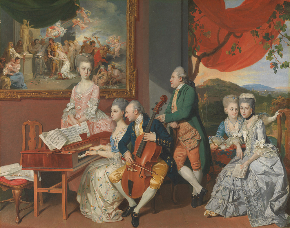 Johan Joseph Zoffany RA, The Gore Family with George, third Earl Cowper, ca. 1775. Oil on canvas. Yale Center for British Art, Paul Mellon Collection.