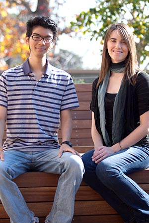 Photo: Two students