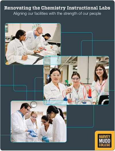 Cover of chemistry renovation brochure.