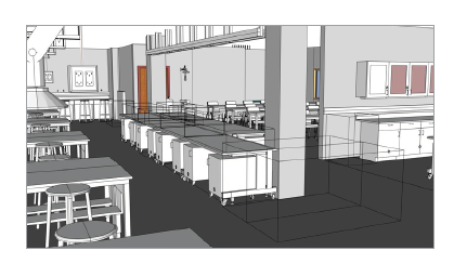 Render of physical chemistry lab after renovation.